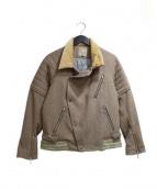 CYDERHOUSE(サイダーハウス)の古着「シールドライダースジャケット」|ブラウン