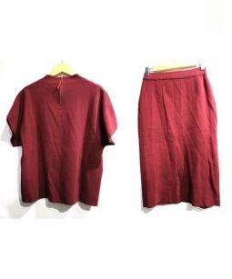 BARNYARDSTORM(バーンヤードストーム)の古着「ミラノリブセットアップ」|ボルドー