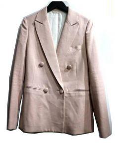 BACCA(バッカ)の古着「ダブルブレステッドジャケット」|ピンク