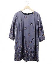 marimekko(マリメッコ)の古着「テキスタイルブラウスワンピース」 グレー