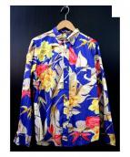 GITMAN BROS(ギットマン ブラザーズ)の古着「フラワープリントシャツ」 ブルー