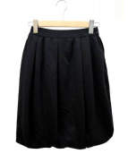 COTOO(コトゥー)の古着「スフレポンチスカート」|ブラック
