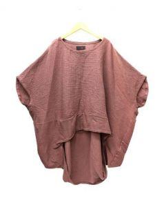 MOYURU(モユル)の古着「チュニックブラウス」|ブラウン