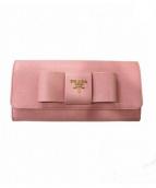 PRADA(プラダ)の古着「パスケース付長財布」|ピンク