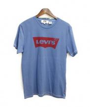 eYe COMME des GARCONS JUNYAWATANABE MAN(アイ コムデギャルソン ジュンヤワタナベマン)の古着「染色加工ロゴプリントTシャツ」|ブルー