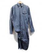 JUNYA WATANABE COMME des GARCONS(ジュンヤワタナベ コムデギャルソン)の古着「シャーリングデニムシャツワンピース」|ブルー