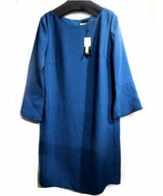 22 OCTOBRE(ヴァンドゥーオクトーブル)の古着「ダブルサテンワンピース」|ダークブルー