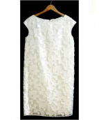 ANAYI(アナイ)の古着「フラワージャガードワンピース」|ホワイト