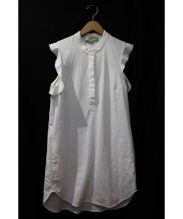 STELLA McCARTNEY(ステラ マッカートニー)の古着「フリルスリーブワンピース」|ホワイト
