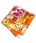 Christian Dior(クリスチャンディオール)の古着「シルクスカーフ」|オレンジ