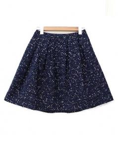 TOCCA(トッカ)の古着「ツイードスカート」|ネイビー