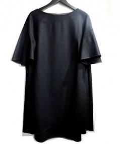 Loulou Willoughby(ルルウィルビー)の古着「フラノフレアワンピース」|ブラック