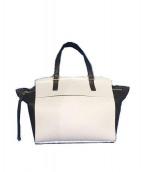 FURLA(フルラ)の古着「ハンドバッグ」|ホワイト×ブラック