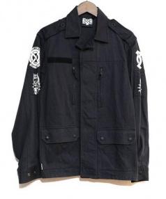 BOUNTY HUNTER(バウンティーハンター)の古着「ミリタリージャケット」|ブラック