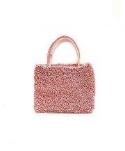 ANTEPRIMA(アンテプリマ)の古着「ワイヤーミニハンドバッグ」|ピンク