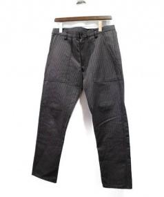 COMME des GARCONS SHIRT(コムデギャルソンシャツ)の古着「ピンストライプトラウザーパンツ」|グレー