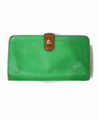 IL BISONTE(イルビゾンテ)の古着「2つ折り財布」|グリーン