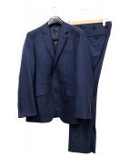 MENS BIGI(メンズビギ)の古着「ブロークンヘリンボーン2Bスーツ」 ネイビー