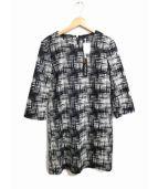 MAX&Co.(マックスアンドコー)の古着「ジャガードワンピース」|ブラック