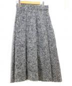 VONDEL(フォンデル)の古着「フランネルボックスフレアスカート」|グレー