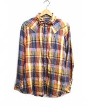 Francis T MOR.K.S(フランシストモークス)の古着「チェックシャツ」|オレンジ