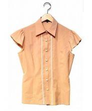 FOXEY_NEWYORK(フォクシーニューヨーク)の古着「ストレッチシャツ」|ピンク