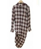 JUNYAWATANABE COMMEdesGARCONS(ジュンヤワタナベ コム デ ギャルソン)の古着「チェックシャツデザインワンピース」 レッド