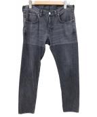 HBNS(ハバノス)の古着「USEDパッチブラックデニム」