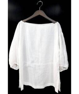MACPHEE(マカフィー)の古着「ボリュームスリーブブラウス」|ホワイト