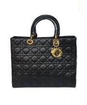 Christian Dior(クリスチャン ディオール)の古着「ラムスキンハンドバッグ」|ブラック