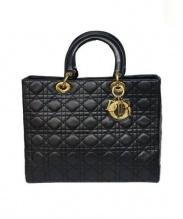 Christian Dior(クリスチャン ディオール)の古着「ラムスキンハンドバッグ」 ブラック