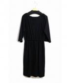 LAUTRE AMONT(ロートレ アモン)の古着「ダブルクロスワンピース」|ブラック