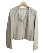 ANAYI(アナイ)の古着「レザーVネックジャケット」