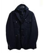 CALVARESI(カルヴァレージ)の古着「レイヤードジャケット」|ネイビー