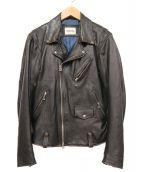 MONKEY TAIME(モンキータイム)の古着「ダブルライダースジャケット」 ブラック