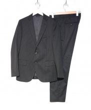simplicite plus(シンプリシテ プリュス)の古着「ウォッシャブルピンスト2Bスーツ」|ブラック
