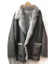 JET NEW YORK(ジェット ニューヨーク)の古着「リバーシブルスカーナムートンコート」|グレー