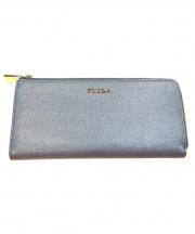 FURLA(フルラ)の古着「L字ファスナー長財布」|ライトブルー