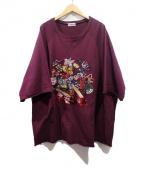 UNDERCOVER(アンダーカバー)の古着「刺繍スパンコールスウェット」|ボルドー