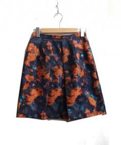 ANAYI(アナイ)の古着「ボカシフラワージャガードスカート」|オレンジ