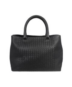 BOTTEGA VENETA(ボッテガベネタ)の古着「レザートートバッグ」|ブラック