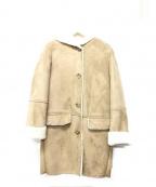 BAYFLOW(ベイフロー)の古着「フェイクムートンコート」 ベージュ