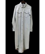 R.H.Vintage(ロンハーマンヴィンテージ)の古着「デニムシャツワンピース」|インディゴ