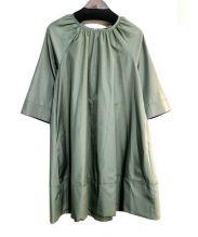 ROSSO(ロッソ)の古着「フレアサークルワンピース」|オリーブ