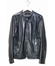 Shama(シャマ)の古着「シングルライダースジャケット」|ブラック
