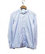 Errico Formicola(エリコフォルミコラ)の古着「ストライプシャツ」|ブルー