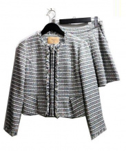 Maglie par ef-de(マーリエパーエフデ)の古着「ポンピングツイードセットアップ」|グレー