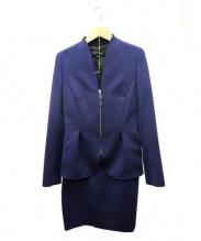 ESCADA(エスカーダ)の古着「セットアップスカートスーツ」|ロイヤルブルー