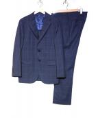 BEAMS F(ビームスエフ)の古着「チェック3Bスーツ」|ネイビー