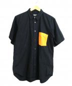 BLACK COMME des GARCONS(ブラックコムデギャルソン)の古着「カラーポケット半袖ブロードシャツ」|ブラック